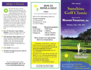 26th Annual Golf Classic Brochure page 1